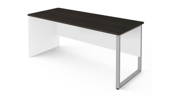"Computer Tables Bestar 72"" x 30"" Table with Rectangular Metal Legs"