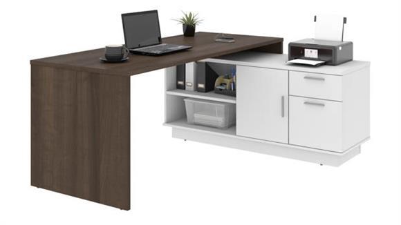 "L Shaped Desks Bestar 71""W L-Shaped Desk"