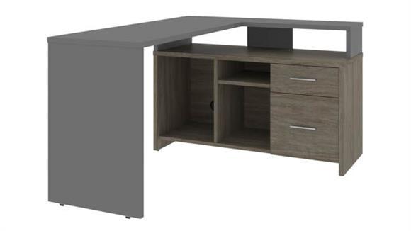 "L Shaped Desks Bestar 56"" W  L-Shaped Desk"