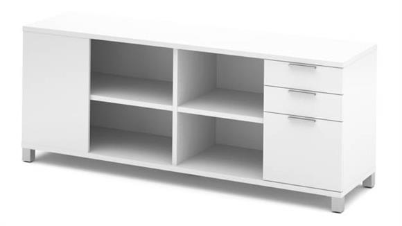 Office Credenzas Bestar Credenza with Three Drawers