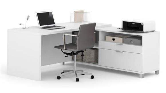 L Shaped Desks Bestar L Shaped Desk