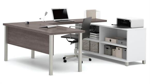 U Shaped Desks Bestar U Shaped Desk