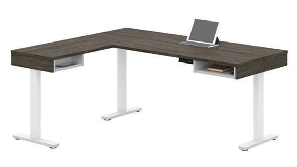 Adjustable Height Desks & Tables Bestar Height Adjustable L-Desk