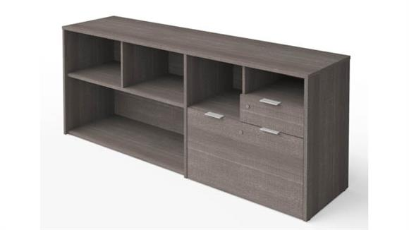 """Office Credenzas Bestar 72""""W Credenza with 2 Drawers"""