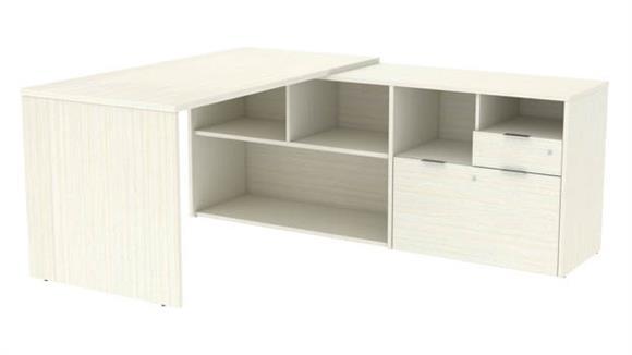 "L Shaped Desks Bestar 72""W L-Desk with 2 Drawers"