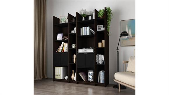 Storage Cabinets Bestar Storage Wall Unit