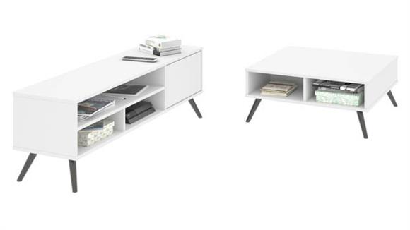 "TV Stands Bestar 29.5"" Storage Coffee Table and 53.5"" TV Stand"