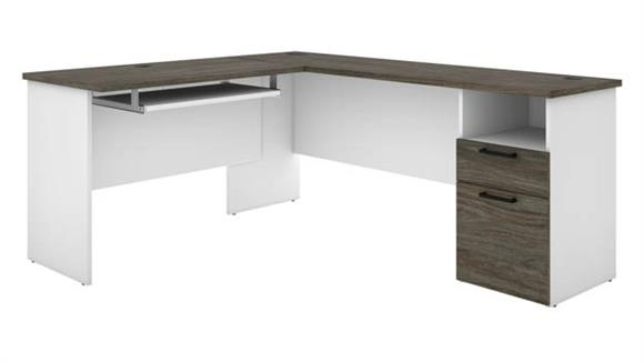 "L Shaped Desks Bestar 71""W L-Shaped Desk"