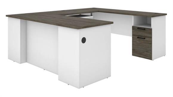"U Shaped Desks Bestar 71""W U-Shaped Desk"