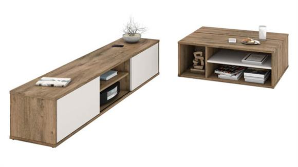Coffee Tables Bestar 2-Piece TV Stand and Coffee Table Set