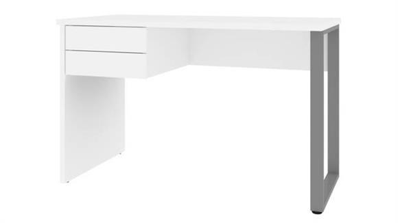 "Computer Desks Bestar 48""W Table Desk with U-Shaped Metal Leg"