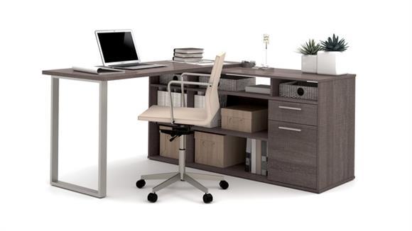 L Shaped Desks Bestar L-Shaped Desk