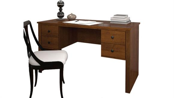 Executive Desks Bestar Double Pedestal Executive Desk