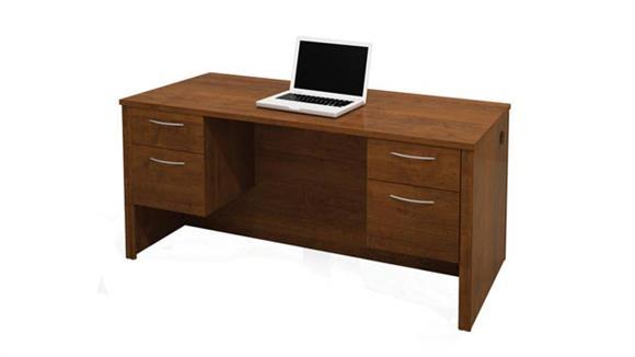 Executive Desks Bestar Double Pedestal Executive Desk 60450