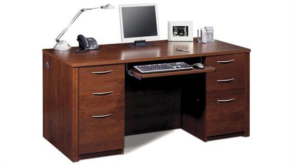 """Executive Desks Bestar 66"""" Double Pedestal Executive Desk 60850"""