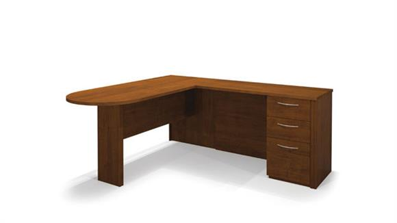 L Shaped Desks Bestar Peninsula L Shaped Desk 60880