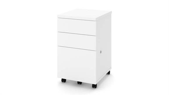 Mobile File Cabinets Bestar Assembled 2U1F Mobile Pedestal