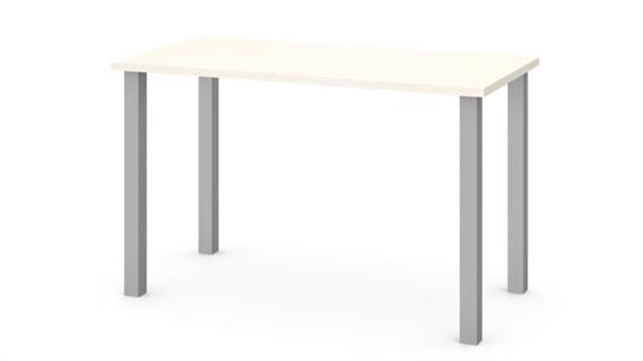 "Computer Tables Bestar 24"" x 48"" Table with Square Metal Legs"