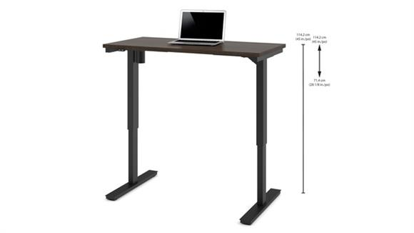 """Adjustable Height Tables Bestar 24"""" x 48"""" Electric Height-Adjustable Table"""