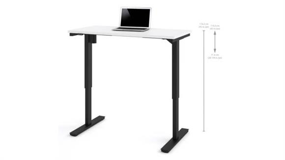 "Adjustable Height Desks & Tables Bestar 24"" x 48"" Electric Height Adjustable Table"