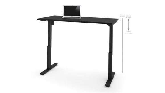 "Adjustable Height Desks & Tables Bestar 30"" x 60"" Electric Height Adjustable Table"