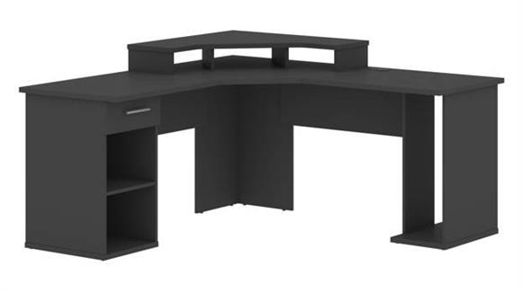 """Corner Desks Bestar 66"""" W L-Shaped Corner Gaming Desk"""