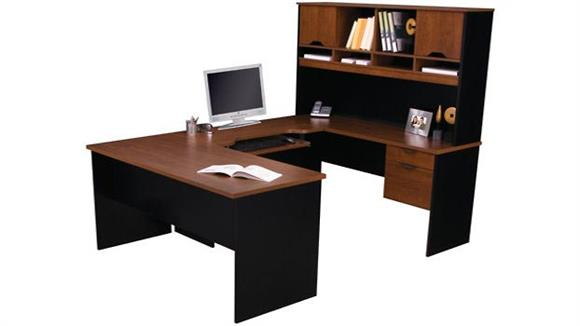 U Shaped Desks Bestar U Shaped Computer Work Station