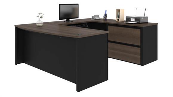 """U Shaped Desks Bestar 72""""W x 93""""D U-Shaped Workstation"""