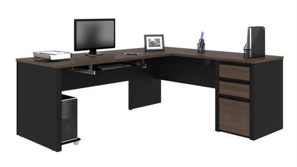 "L Shaped Desks Bestar 72""W x 83""D  L-Shaped Workstation"