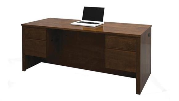 Executive Desks Bestar Double Pedestal Executive Desk 99450