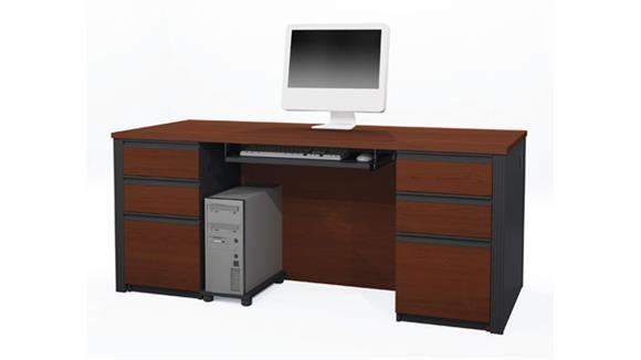Executive Desks Bestar Double Pedestal Executive Desk 99850