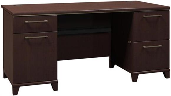 Executive Desks Bush Furniture 60in Double Pedestal Desk
