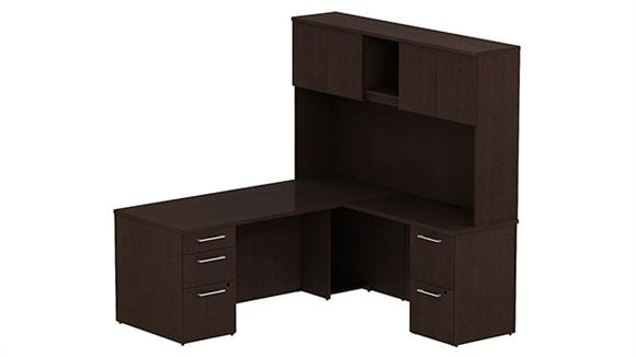"L Shaped Desks Bush Furniture 72"" L Shaped Desk with Hutch"