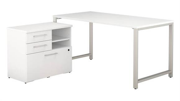 """Computer Tables Bush Furniture 60"""" W x 30"""" D Table Desk with 30"""" W Lateral File Cabinet"""