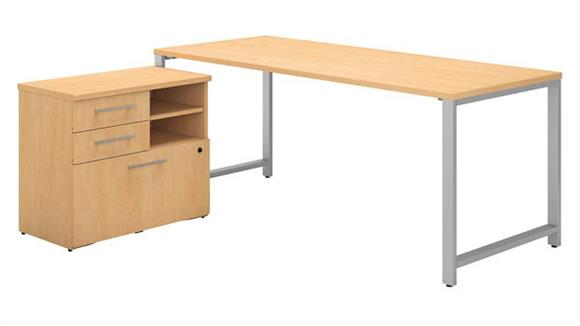 "Computer Tables Bush Furniture 72""W x 30""D Table Desk with 30""W Lateral File Cabinet"