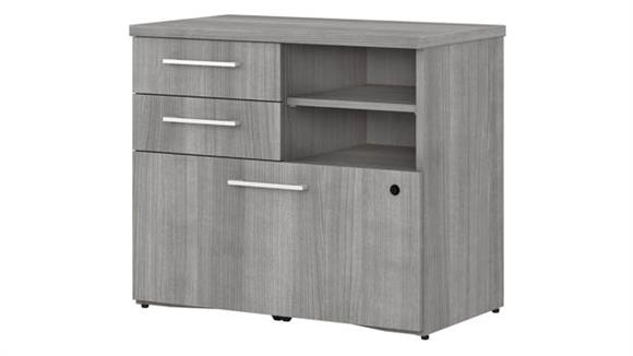 "File Cabinets Lateral Bush Furniture 30""W Lateral File Cabinet with Shelves"