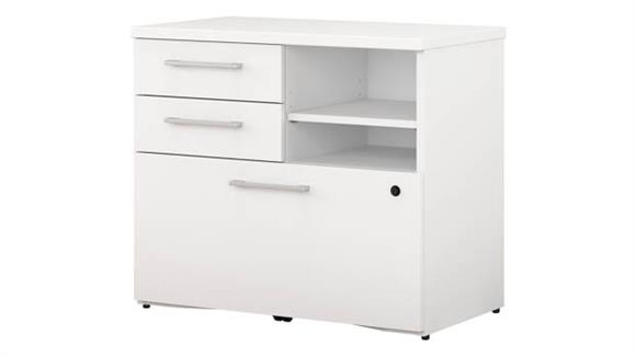 "File Cabinets Lateral Bush Furniture 30""W Piler Filer Cabinet"