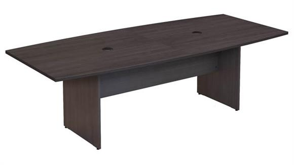 "Conference Tables Bush Furniture 96""W x 42""D Boat Shaped Conference Table with Wood Base"