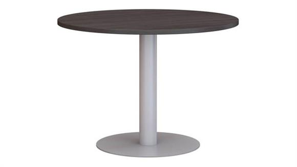 "Conference Tables Bush Furniture 42""W Round Conference Table with Metal Disc Base"