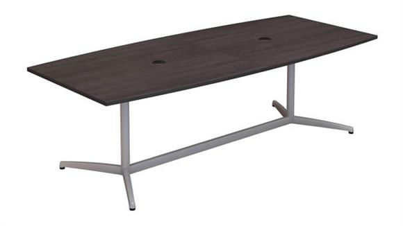 """Conference Tables Bush Furniture 96""""W x 42""""D Boat Shaped Conference Table"""