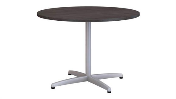 "Conference Tables Bush Furniture 42""W Round Conference Table with Metal X Base"