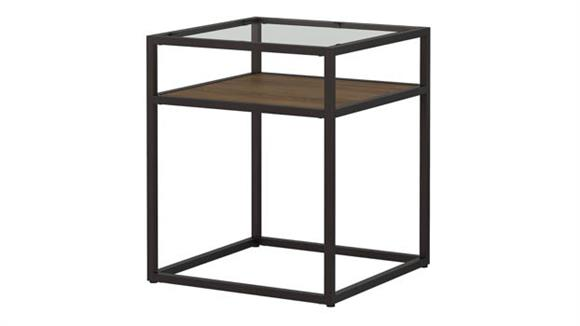 End Tables Bush Furniture Glass Top End Table