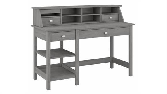 "Computer Desks Bush Furniture 54"" W Computer Desk with Shelves and Desktop Organizer"