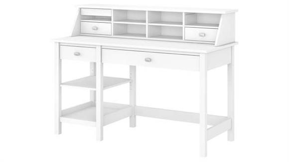 Computer Desks Bush Furniture Computer Desk with Open Storage and Desktop Organizer
