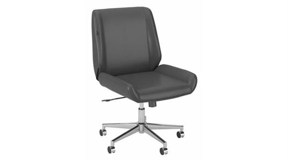 Office Chairs Bush Furniture Wingback Leather Office Chair
