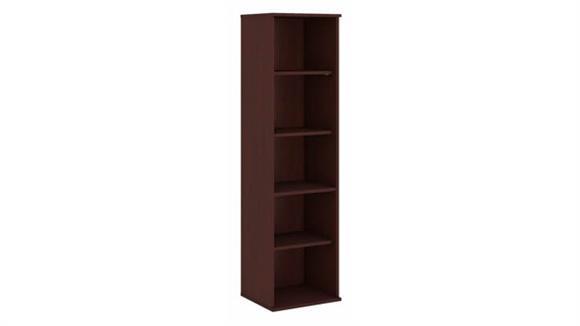 """Bookcases Bush Furniture 66""""H Five Shelf Narrow Bookcase"""