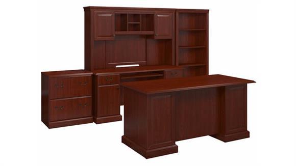 "Executive Desks Bush Furniture 66"" W Manager"