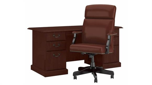 Executive Desks Bush Furniture Executive Desk and Chair Set