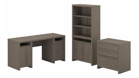 Computer Desks Bush Furniture Computer Desk with Lateral File Cabinet and Bookcase