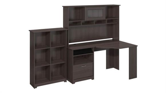 Corner Desks Bush Furniture Corner Desk with Hutch and Bookcase